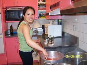 Karen Milde Hard at work